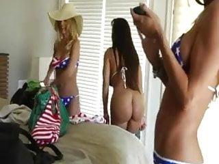 Three girls suck one lucky guyy Three girls for a lucky man