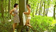 Two Women Standing to Masturbate WF