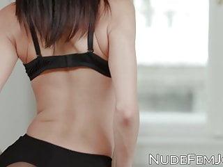 Nikki boyer sexy Skinny babe in sexy lingerie nikki fox strokes her pussy