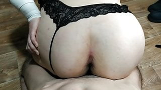 Sex with Russian fat bitch, close-up