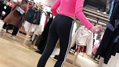 Wonderful  Candy TEEN in thin LEGGINGS and THONG LINES