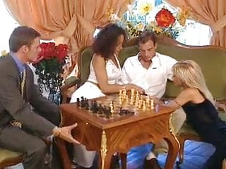 Strip chess men Chess party