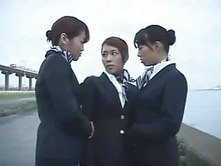 Asian airline rankings Three japanese airline stewardess kissing