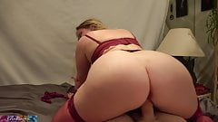 Stepmom lets stepson slide his dick in before bed