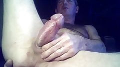 Sexy senior enjoys his big dick