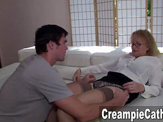 Dirty milf sampler Massive creampie sampler