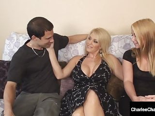 Charlee threesome Cougar charlee chase helps hubby fuck college girl