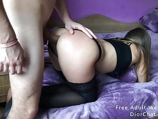 Girl in bikini gets Nympho girl in black lingerie get fucked in her naughty ass