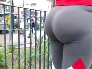 Huge tit nice ass Nice huge candid milf ass in tights