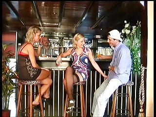 How to find swinger club He finds himself a cute blonde in stockings in the club