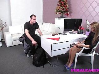 Santa getting blow job Femaleagent bad santa gets a great casting foot job