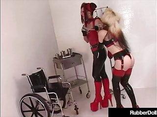 Mental orgasms - Latex nurse rubberdoll disciplines mental patient k-la