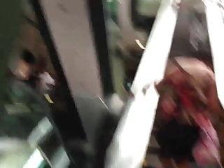 Up skirt pussy shots Milf up skirt shot at escalators
