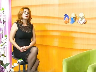 Long nude nylon legs Long legs and nice heels in a tv show