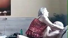 72yo Granny rides for an Orgasm