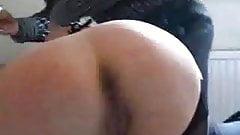 Sexy mon nylon spanking