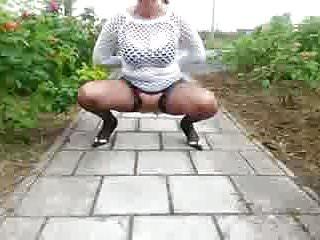 Free mature piss Dutch mature piss on the street