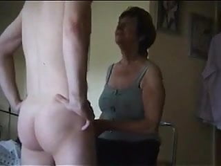 Old ladies lick pussy Dominant old lady makes him lick her