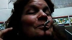 Crazy MILF getting naked in public toilet