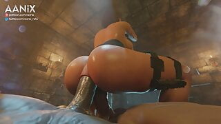 Jill Valentine Double Penetrated And Creampied
