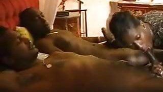 black woman has threesome