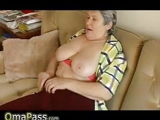 Sagging breasts pics - Granny with big sagging tits masturbating on the couch