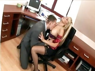 Fucking secretary stocking - Secretary in thigh highs fucking at the office