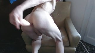 Twink taking big dildos in his ass