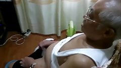chinese grandpa jerking off