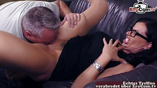 German Sex counselor teaches real mature couple