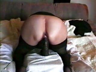 Sex with black cunt - Big black dildo in her cunt