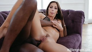 Sexy Clea Gaultier takes big black cock in her ass
