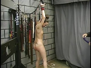 Spanked titties Brunette with tattooes and little titties submits to being bound and spanked raw