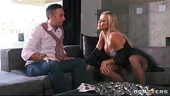 Busty blonde MILF Amber Lynn seduces Keiran Lee for a rough