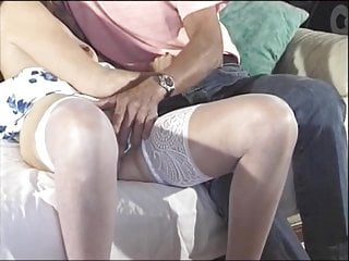 Older milfs in nylons - Brunette latina sucks on older guys stiff cock