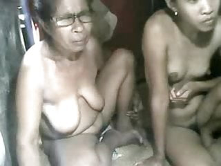 Fucking grandaughter - Filipina grandma and not her grandaughter showing on cam