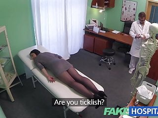 Gigls in wet pantyhose - Fakehospital g spot massage gets hot brunette wet