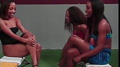 Black lesbian chicks in threesome
