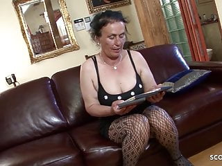 German hairy free porn - Hairy grandma found porn of young boy and let him fuck anal