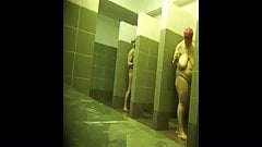 super saggy mature in the shower