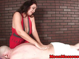 Tits and tugs video clips - Busty mean masseuse tugging after teasing