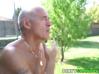 Much older milf - Older guy fucks her much younger lover