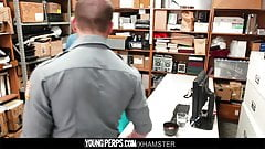 YoungPerps - Muscle guard takes a shoplifters virginity