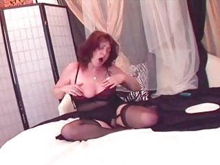Black stockings dildo Granny in black stockings fucked