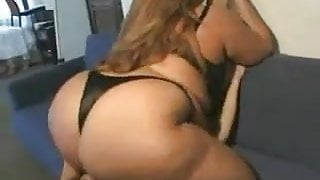 Asian BBW covers her sub under her big ass