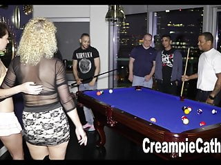 1st anal video - Her 1st anal creampie gangbang