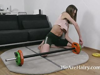Naked milf exercises - Lillian vi masturbates and does naked exercising