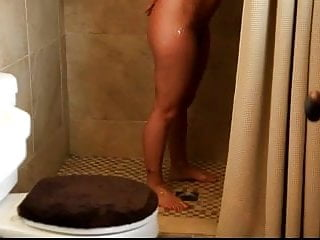 Big ass big tits milf - Sexy big tits milf with great ass takes a shower