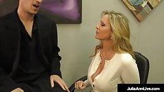 Lay Your Head Against My Tits! Julia Ann Milks Her Stepson!