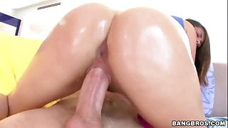 Allie Haze gets her oiled round ass pounded